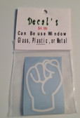 Decal Sticker Sign Language (S) White or Special Color