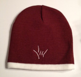 Knit Skull Cap Marron w/ White Strip ( DRAW I LOVE YOU HAND)