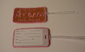 Luggage Tag with ILY Sign Hand (Brown and White Merrow) Embroidery