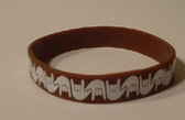 I LOVE YOU Awareness Bracelet Silicone (Brown)