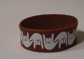 I LOVE YOU Awareness Bracelet Silicone (BROWN) WIDE