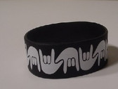 I LOVE YOU Awareness Bracelet Silicone (BLACK) WIDE
