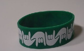 I LOVE YOU Awareness Bracelet Silicone (GREEN) WIDE