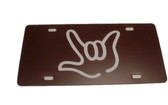 Auto License Plate with I LOVE YOU Sign Hand(Brown/White Hand)