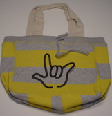 Beachcomber Bag with Black ILY Outline (Yellow Bag)