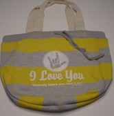 Beachcomber  Bag with No Body Loves You White (Yellow Bag)