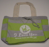 Beachcomber  Bag with No Body Loves You White (Lime Bag)