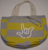 Beachcomber Bag with White ILY Outline (Yellow Bag