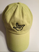 "Citrus Cap with Outline Hand  ""I LOVE YOU ""  (BLACK THREAD)"