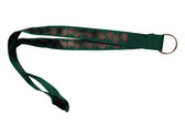 ILY Lanyard with  Keyring: Green w/ Black Imprint