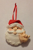 "Santa Claus (Flesh ) Christmas Ornaments Sign hand "" I LOVE YOU ""  (very light weight )"