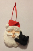 """Santa Claus ( Black ) Christmas Ornaments Sign hand """" I LOVE YOU """" (very light weight )"""
