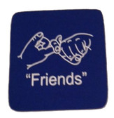 "Coaster Pad Sign Language "" Friends"" ( Royal)"