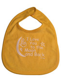 I LOVE YOU TO THE MOON AND BACK (YELLOW) BABY BIB