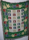 Kids Blanket with  ABC Sign & ILY Border