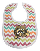 OWL CHEVRON COLOR BIBS (HAND MADE BY DEBY)