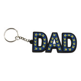 """DAD PVC Keychain with Muilt-Color Sign Language Hands """" I LOVE YOU"""""""