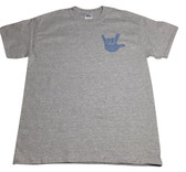 DOT (BLUE) WITH  SIGN LANGUAGE HAND (SMALL LEFT CHEST) ADULT SIZE