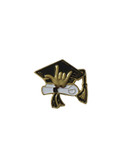 "GRADUATION CAP SIGN LANGUAGE "" I LOVE YOU"" HAND PIN ( GOLD)"