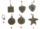 Pick one charm (Varies design )  Charm is $8.99 each (not set)