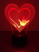 """HEART WITH HAND """" I LOVE YOU SIGN LANGUAGE """" LED NIGHT LIGHT (AUTOMATICALLY COLOR CHANGING)"""