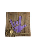 """Wooden Pallet Block Wall Decor with Sign Language """" I LOVE YOU"""" hand ( Purple)"""
