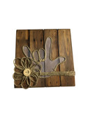 """Wooden Pallet Block Wall Decor with Sign Language """" I LOVE YOU"""" hand (Light Purple)"""