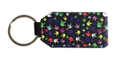 """Leather Keychain with Sign Language """" I LOVE YOU"""" Multi- Colors Hands"""
