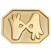 Interpreter Pin Rectange Hexagon (shinny gold)