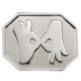 Interpreter Pin  Rectange Hexagon (shinny silver)