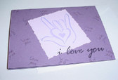 I LOVE YOU Card Note (Purple)