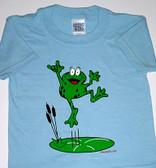 """Frog Sign Hand """" I LOVE YOU """" (Light Blue) Adult"""
