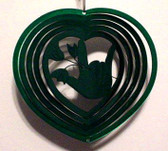 Suncatchers Wind Illusions ILY hand w/rose (Small) Green 6