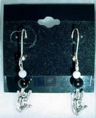 ILY Earrings Glass Bead (Pearl & Black)