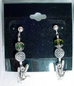 ILY Earrings Glass Bead (Green)