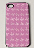 iPhone 4/4S Cover with Outline I LOVE YOU Hands (Pink)