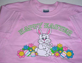 Easter's Bunny sign hand T-Shirt (Pink)