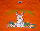 """Easter's Bunny Sign """" I LOVE YOU""""  hand T-Shirt (Orange) ADULT SIZE"""
