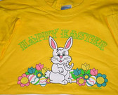 """Easter's Bunny Sign """" I LOVE YOU """" hand T-Shirt (Yellow) ADULT SIZE"""