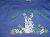 """Easter's Bunny Sign """" I LOVE YOU """"  hand T-Shirt (Purple) ADULT SIZE"""