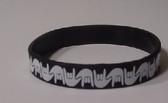 I LOVE YOU Awareness Bracelet Silicone (Black)