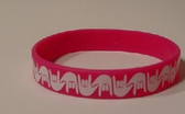 I LOVE YOU Awareness Bracelet Silicone (Hot Pink)