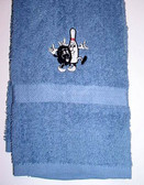 Bowling Hand Towel Embroidery (Royal)