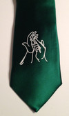 Men Tie with Sign Jesus hands (Forest Green)