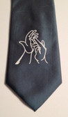 Men Tie with Sign Jesus hands (Gray)