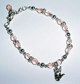 Pink CZ with ILY Bracelet Adjustment chain