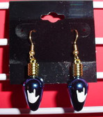 Christmas Light drop earring pair ( Blue w/ILY White)