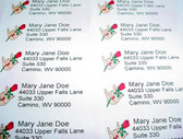 Custom Mailing  Labels with Hand w/Rose (Tan)