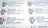 "Custom Mailing Labels with Monkey sign "" I LOVE YOU"""