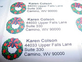 "Custom Mailing Labels with Wreath with "" I LOVE YOU"""